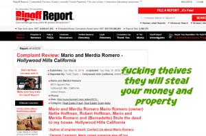 MARIO ROMERO AND HIS ANUT NELLY ARE FUCKEN THIEVES