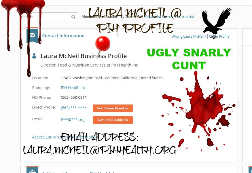 LAURA MCNEIL A CUNT
