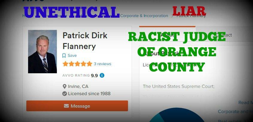 CORRUPT RACIST JUDGE