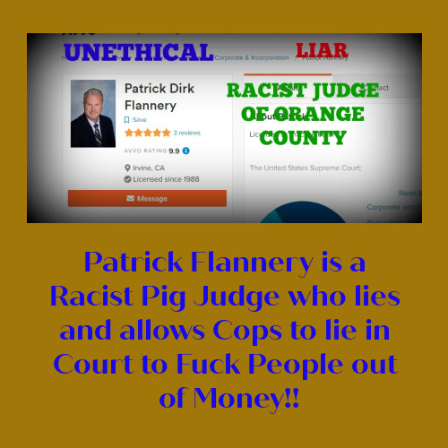 RACIST JUDGE PATRICK FLANNERY