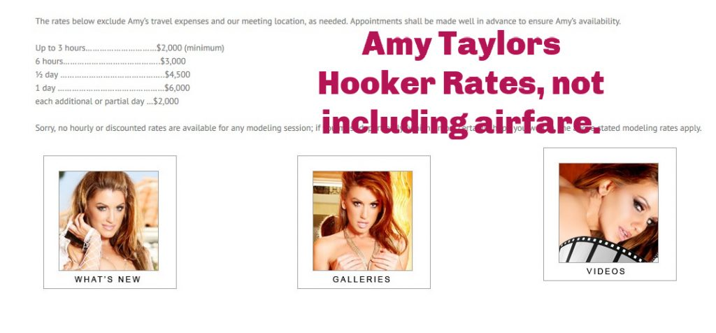 Amy Taylor Hooker Rates